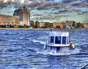 St Petersburg Prints - WATER TAXI. St Petersburg. Russia Print by Juli Scalzi