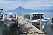 Water Taxi Framed Prints - Water Taxis on Lake Atitlan Framed Print by Rob Tilley