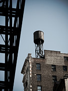 Water Tower And Fire Escape Print by Darren Martin