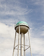 Cellphone Photo Prints - Water Tower With a Cellphone Transmitter Print by Paul Edmondson