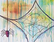 Itsy Bitsy Spider Prints - Water Web Print by Angelique Buman