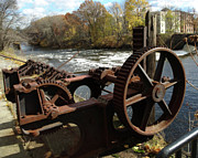Blackstone Valley Prints - Water Wheel Print by Barry Doherty