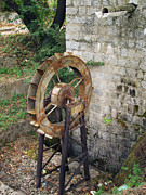 Waterwheel Posters - Water Wheel Poster by Eena Bo