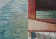 Dock Drawings Originals - Water11 by Jeffrey Babine