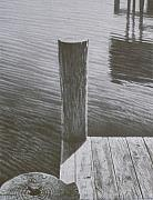 Dock Drawings Originals - Water12 by Jeffrey Babine