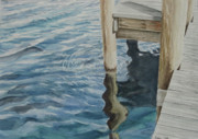 Dock Drawings Originals - Water14 by Jeffrey Babine