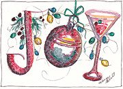 Holiday Notecard Originals - Watercolor Christmas Notecard by Michele Hollister - for Nancy Asbell