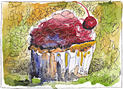 Michele Hollister - for Nancy Asbell - Watercolor Cupcake 10