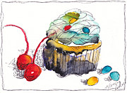 Michele Hollister - for Nancy Asbell - Watercolor Cupcake 8