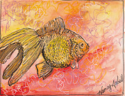 Michele Hollister - for Nancy Asbell - Watercolor Goldfish