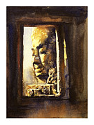 Angkor Paintings - Watercolor of Cambodian temple by Ryan Fox