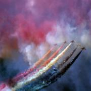Airshow Photos - Watercolor On The Sky by Angel  Tarantella