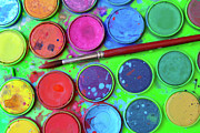 Paint Splash Photos - Watercolor Palette by Carlos Caetano