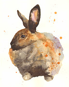 Nursery Decor Paintings - Watercolor Rabbit Print - I am Tahiti by Alison Fennell