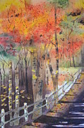 Carol Bruno - Watercolor Road into...