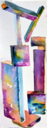 Form Drawings Posters - Watercolor Sculpture Poster by Mindy Newman