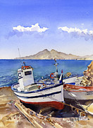 Margaret Merry - Watercolour of boats at...
