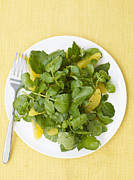 Salad Posters - Watercress Orange Salad Poster by James Baigrie