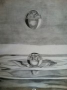 Drop Drawings Originals - Waterdrop by Paul Barille