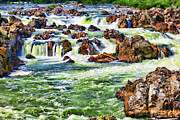 Potomac Prints - Waterfall Abstract Print by Olivier Le Queinec