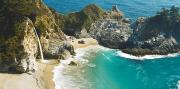 Pfeiffer Beach Photos - Waterfall along Big Sur by Quincy Dein - Printscapes