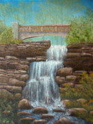 East Hampton Painting Framed Prints - Waterfall at East Hampton Framed Print by Pamela Allegretto