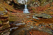 Pa State Parks Photos - Waterfall Canyon by Adam Jewell