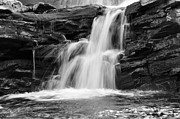Beautiful Scenery Pyrography Prints - Waterfall Print by Conny Sjostrom