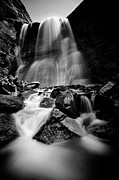 Midi Photo Prints - Waterfall Down The Mountains Print by © Francois Marclay
