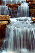 Element Metal Prints - Waterfall Metal Print by Elena Elisseeva