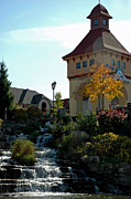 Evening Scenes Photos - Waterfall Frankenmuth Mich by LeeAnn McLaneGoetz McLaneGoetzStudioLLCcom