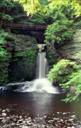Dingmans Falls Photos - Waterfall George W Childs Park Pennsylvania by Michelle Wiarda