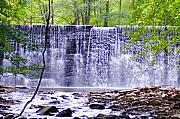 Hidden Digital Art Prints - WaterFall in Gladwyne Print by Bill Cannon