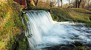 Mill Photographs Posters - Waterfall Poster by Leroy McLaughlin