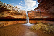 Utah Framed Prints - Waterfall Of Desert Framed Print by William Church - Summit42.com