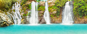 Natural Pool Framed Prints - Waterfall panorama Framed Print by MotHaiBaPhoto Prints