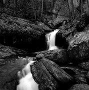 Great Smokey Mountains Prints - Waterfall-Smokey Mountain National Park Print by Arni Katz