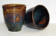 Not Made In China Pottery Ceramics - Waterfall Tapered Cup by Patrick Trujillo