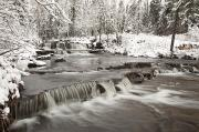 Snow-covered Landscape Art - Waterfall With Fresh Snow Thunder Bay by Susan Dykstra