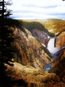 Waterfall Yellowstone 2 Print by Jo-Anne Gazo-McKim