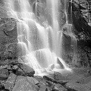 Waterfall Photos - Waterfalls At Chimney Rock State Park by Holden Richards