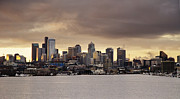 Seattle Skyline Art - Waterfront Cityscape by Ned Frisk