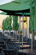Brunch Prints - Waterfront Diner Print by Margaret Pitcher