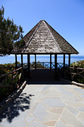 Laguna Beach Posters - Waterfront Gazebo Poster by Paul Velgos
