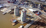 Construction Progress Aerial Photographs - Waterfront Square Under Construction by Duncan Pearson