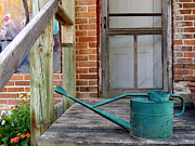 Beautiful Prints - Watering Can Print by Merv Scoble