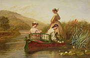 Steering Painting Posters - Waterlilies Poster by Walter Field