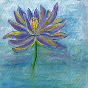 Fauna Pastels Metal Prints - Waterlily Metal Print by Kristen Fagan