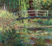 Harmony Painting Posters - Waterlily Pond Poster by Claude Monet