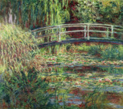 Giverny Painting Framed Prints - Waterlily Pond Pink Harmony 1900 Framed Print by Claude Monet